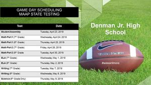 Denman Junior High Testing News 2019