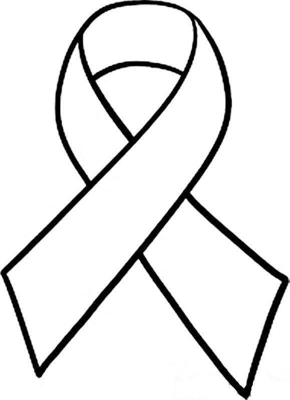 White awareness ribbon.