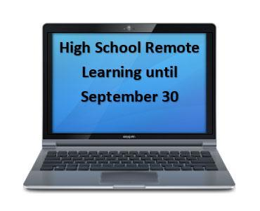 High school shifting to Full remote until 9/30