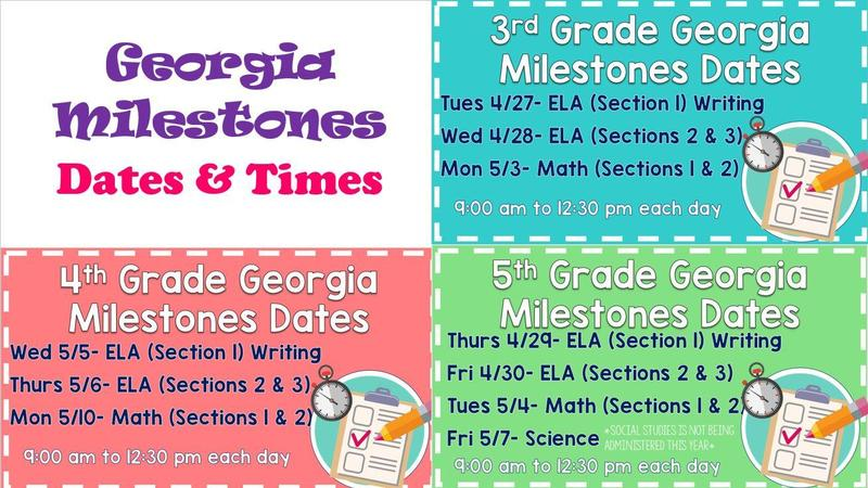 Georgia Milestones Dates and Times Featured Photo