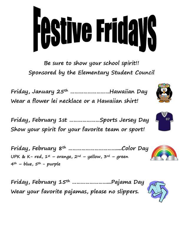 Festive Friday poster
