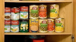 Picture of canned food
