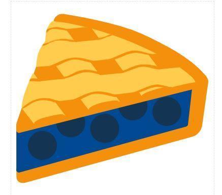 A slice of blueberry lattice pie