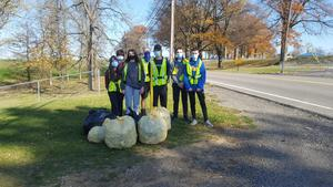 olsh students cleaning up the highway