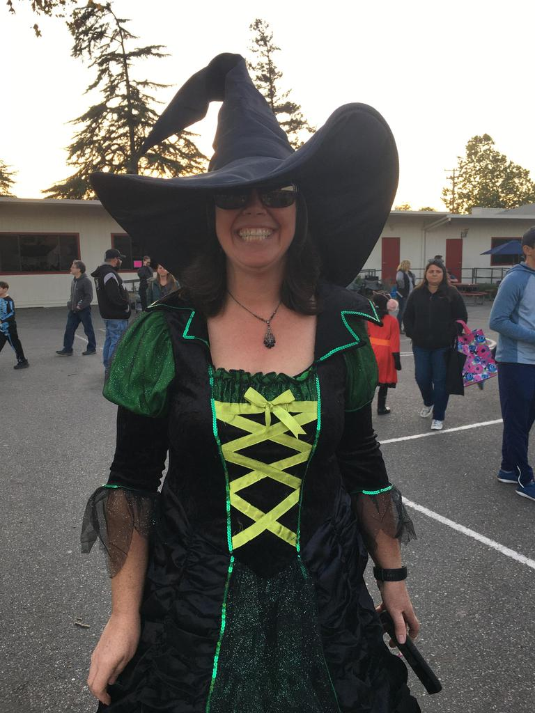 teacher dressed as witch