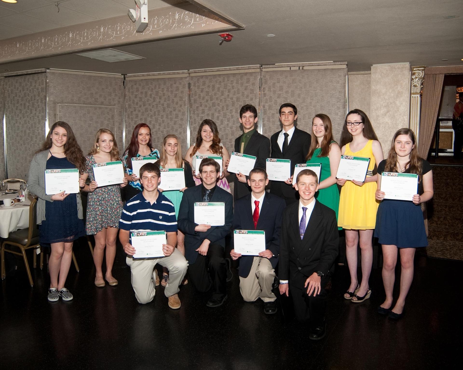 Junior Achievement scholarship recipients