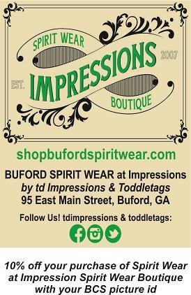 Buford Spirit Wear Info