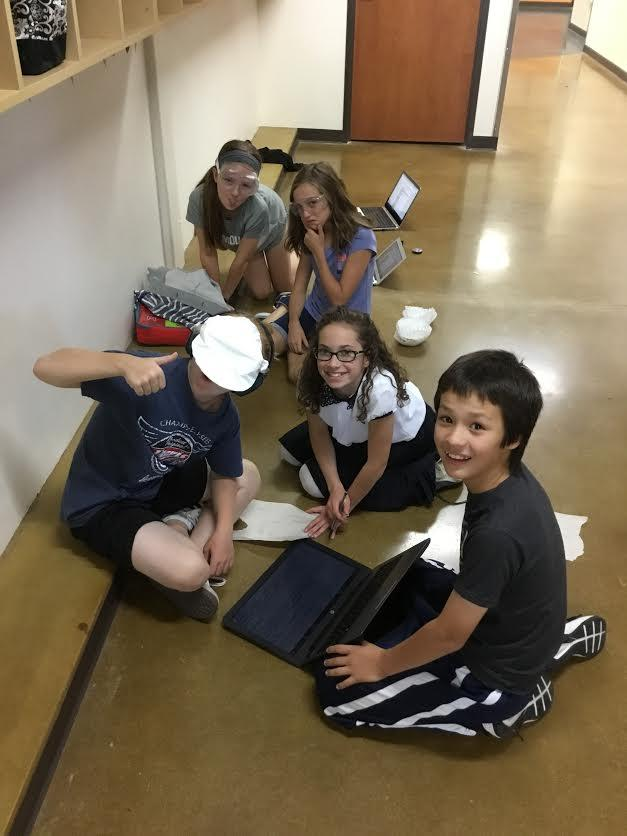 "Sixth grade Science students participate in a ""Create your own Lab"" project."