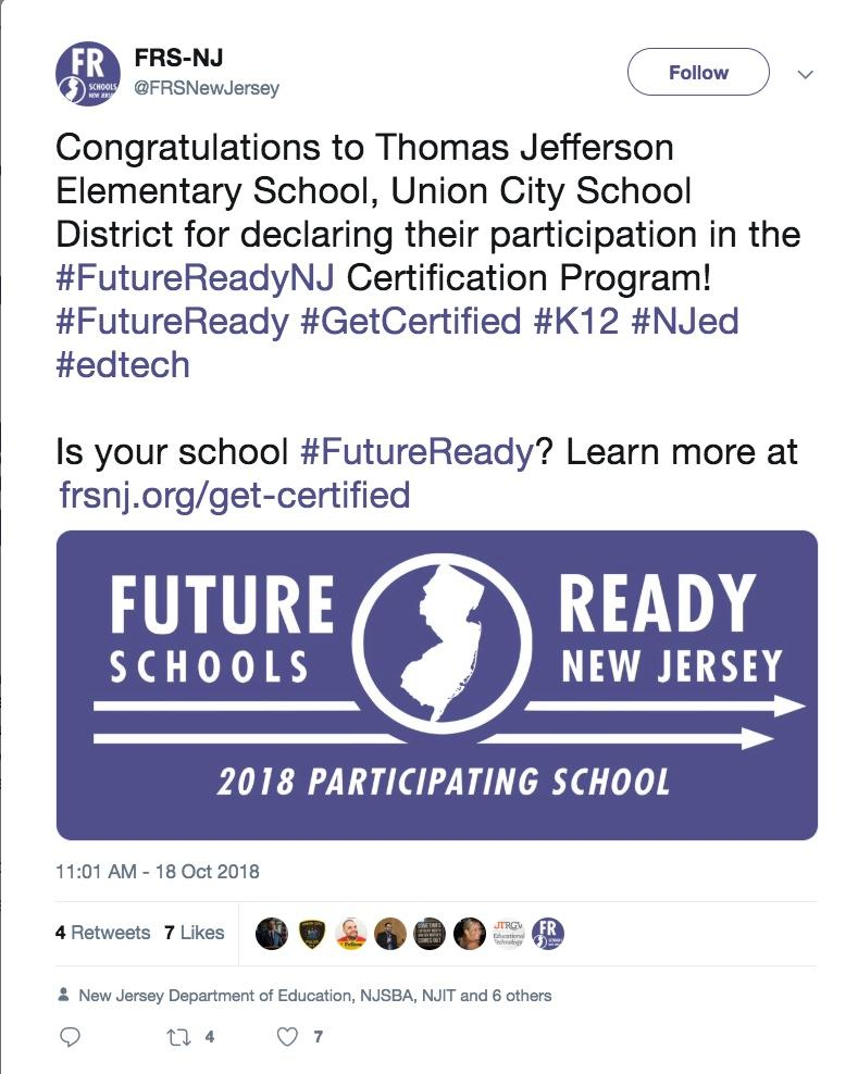 future ready schools tweet