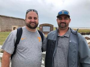 A picture of two men at Fort Sumter