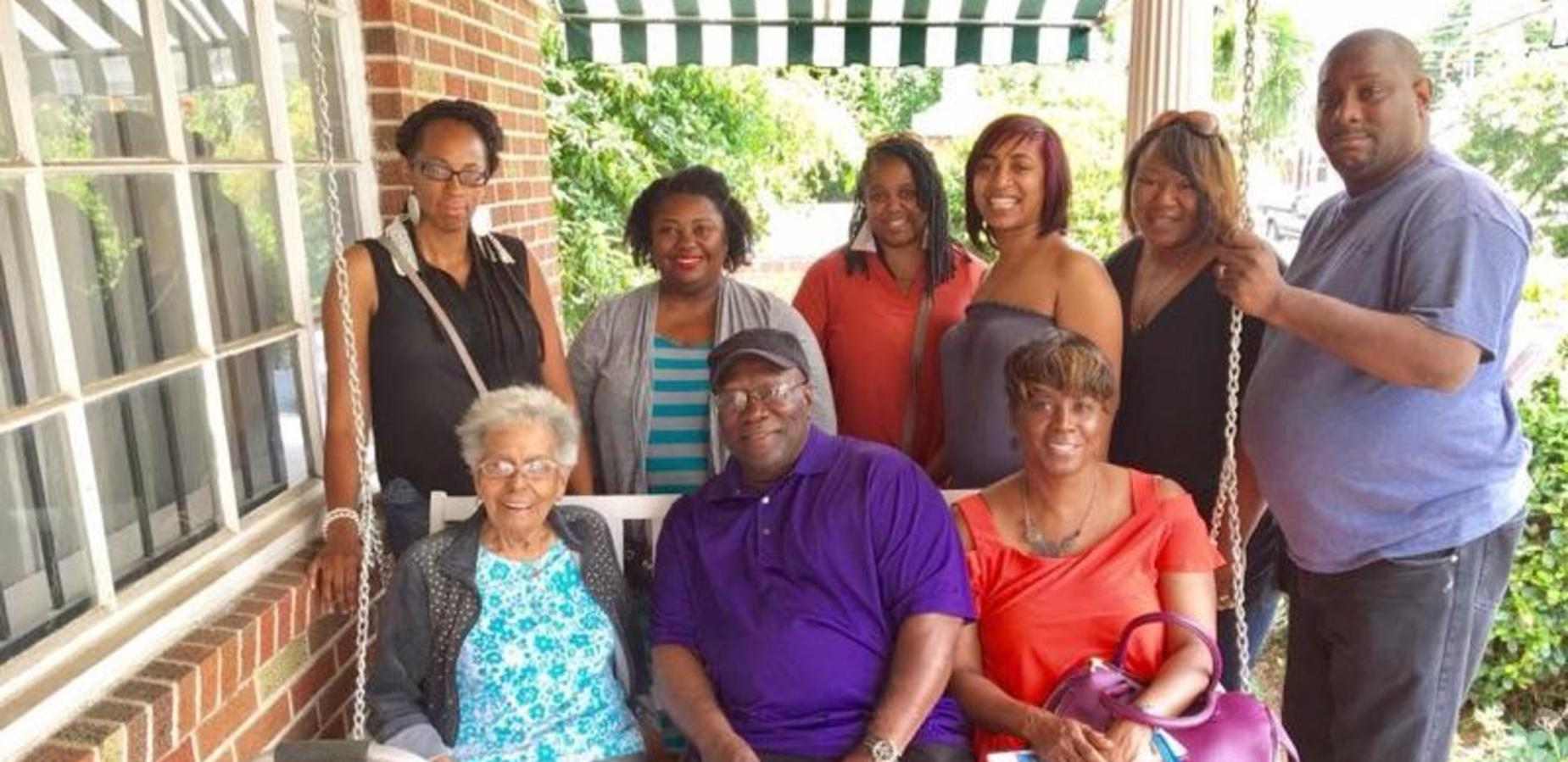 GOA staff in Alabama with a Civil Rights Hero, Vera Harris.
