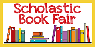 Says Scholastic Bookfair with colorful books