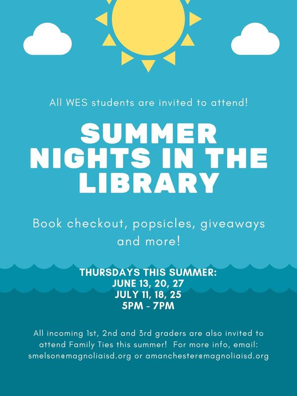 Summer Nights in WES Library poster