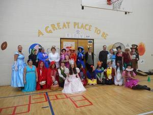 Teachers in Fairy Tale costumes