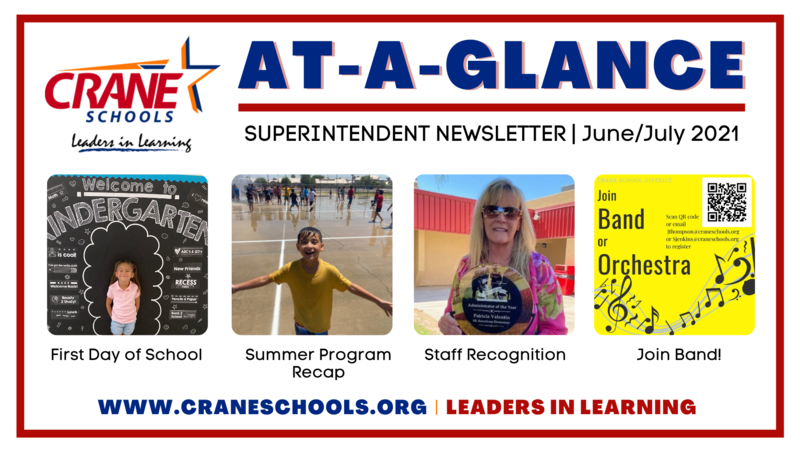 Superintendent's Newsletter - June/July 2021 Featured Photo