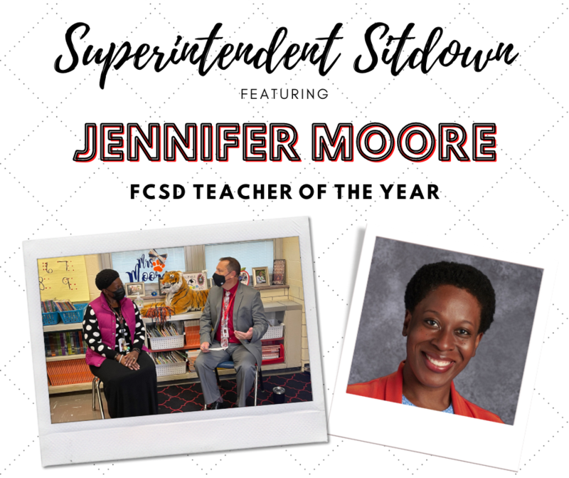Superintendent Sitdown with FCSD Teacher of the Year Jennifer Moore