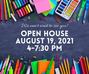 Image of Open House Aug. 19 4-7:30 pm
