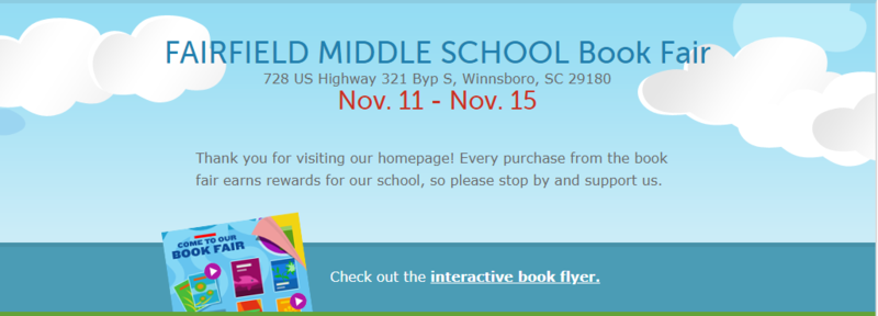 Picture of clouds behind the Nov. 11th-15th book fair dates
