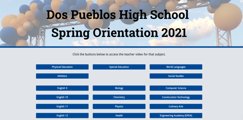 Spring Orientation 2021 / Orientación de Primavera 2021 Featured Photo