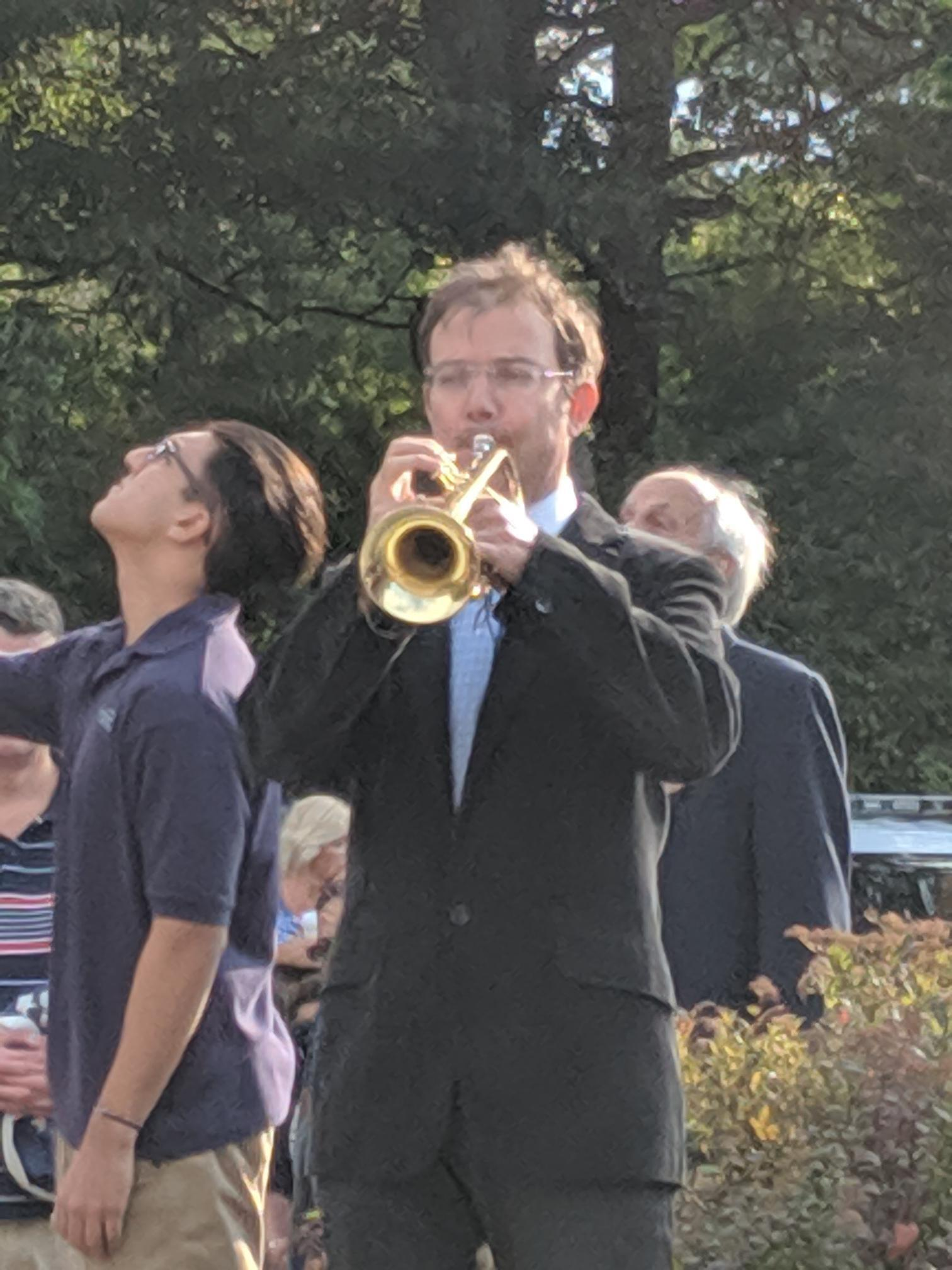 trumpet at 911 ceremony