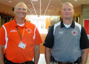 TK Resource officers Jeff Nieuwenhuis and Tony Stein.