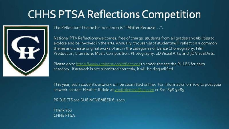 CHHS PTSA Reflections Competition 2020