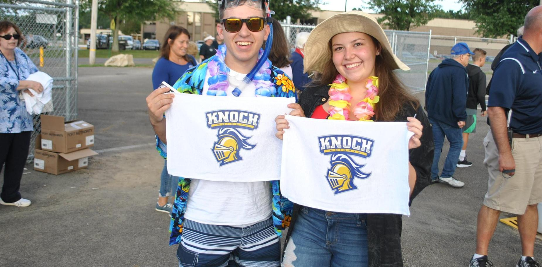 Kids with Spirit Towels at first game