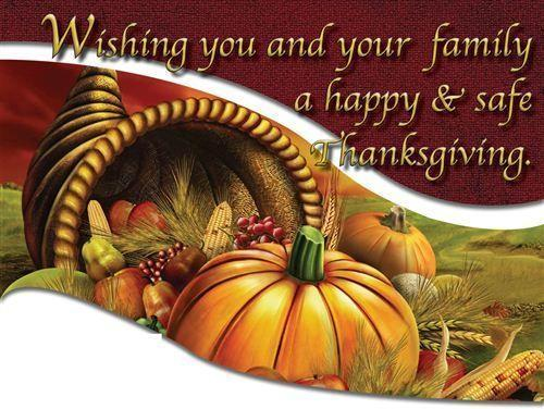 Thanksgiving Break. 11/25 - 11/29 Featured Photo