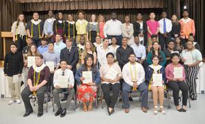 Members of the West Orange - Stark High School National Honor Society