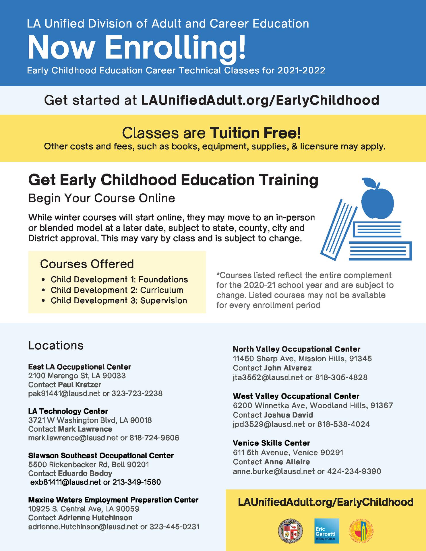 Early Childhood Education Career Flyer - English