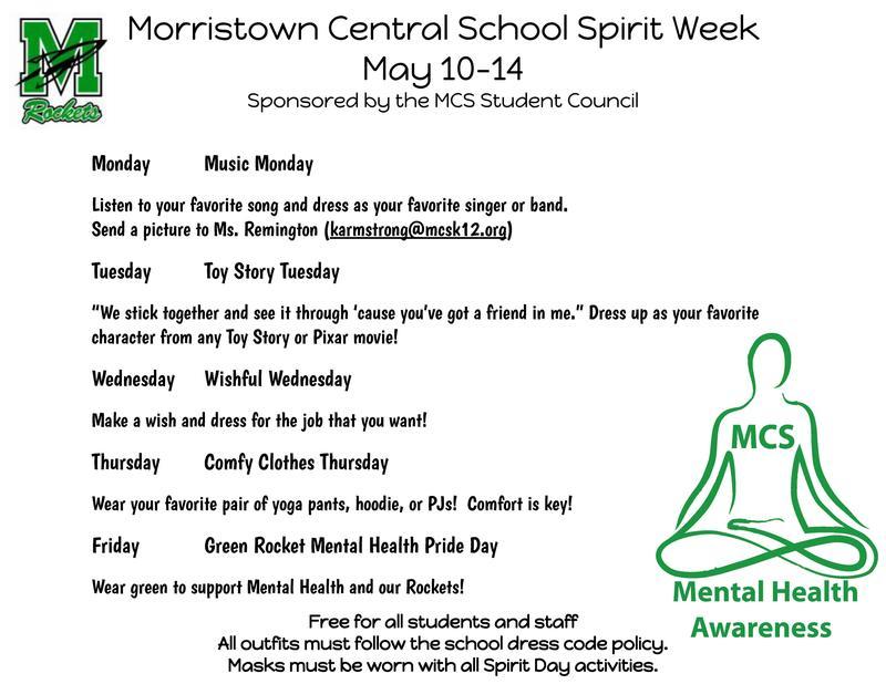 MCS Spirit Week Flyer