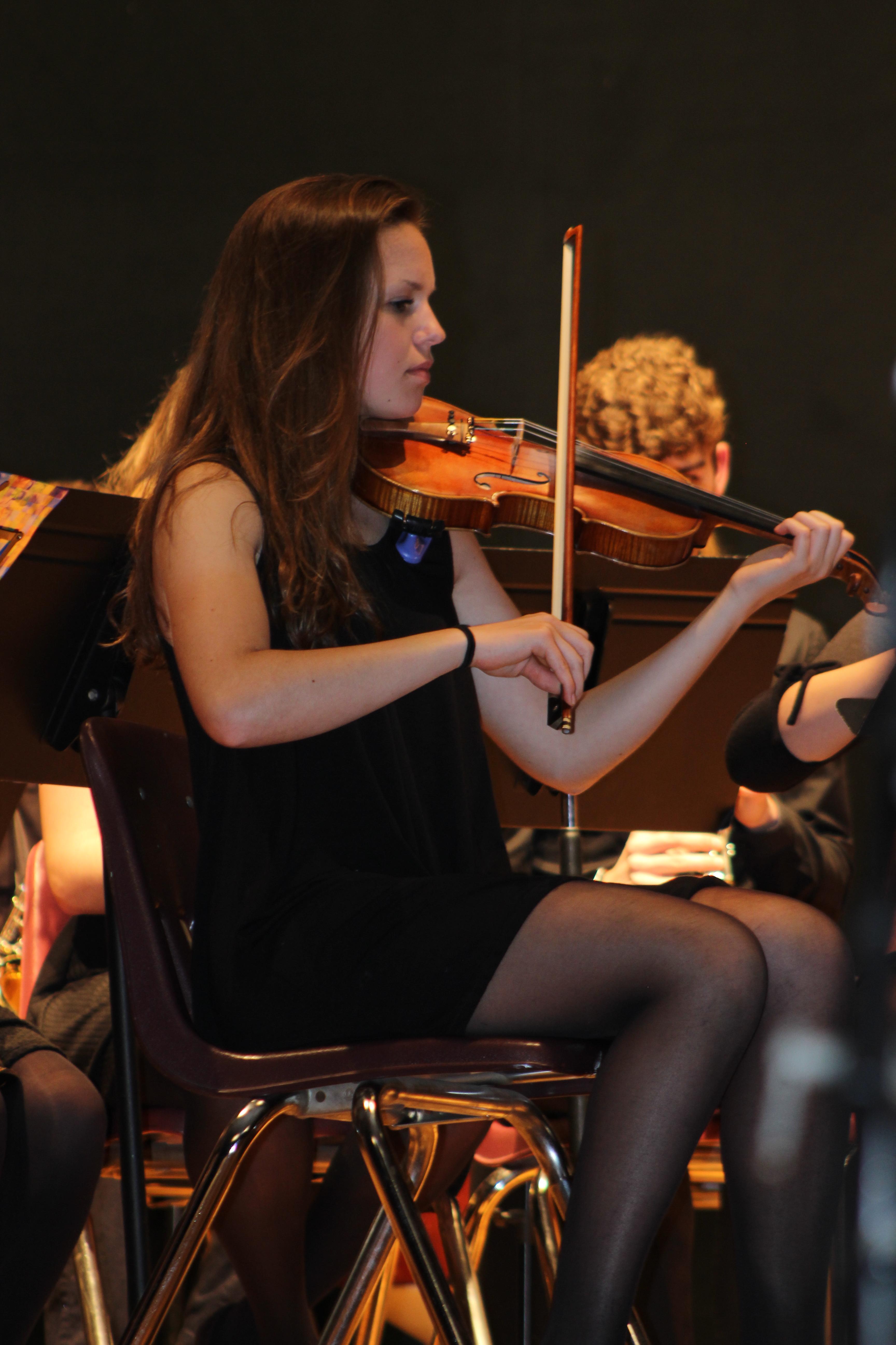 Violinist playing
