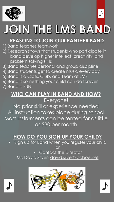 For our rising 6th Graders: Join the LMS Band!