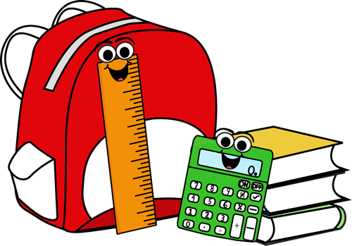 Image of backpack and books