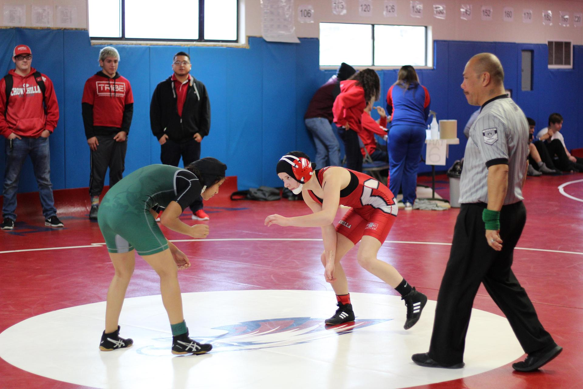 Chowchilla High athletes wrestling at Firebaugh