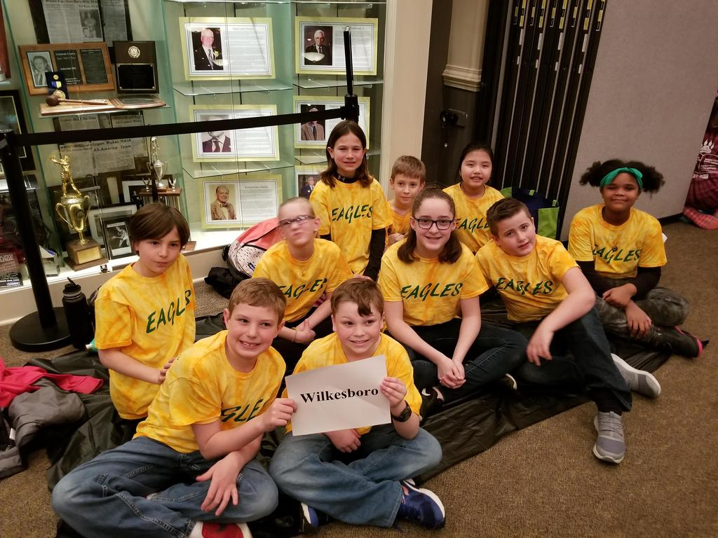 EBOB Team at Competition after lunch