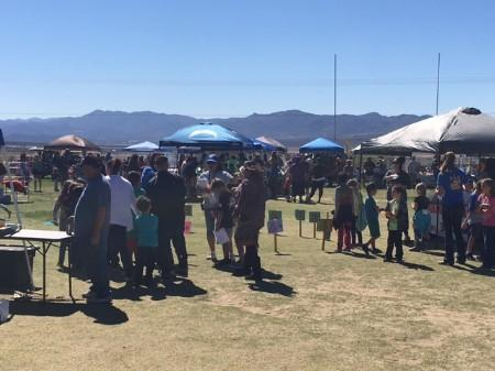 Students and Family enjoying the festival