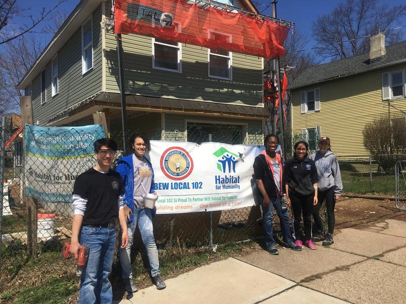 Union Catholic students volunteer with Habitat for Humanity Thumbnail Image