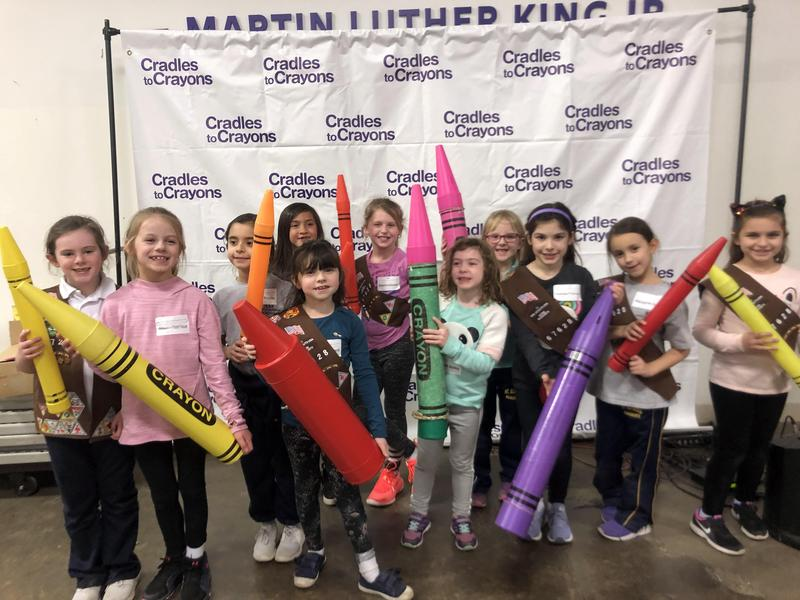 MAA's Brownie Troop Volunteers at Cradles to Crayons! Featured Photo
