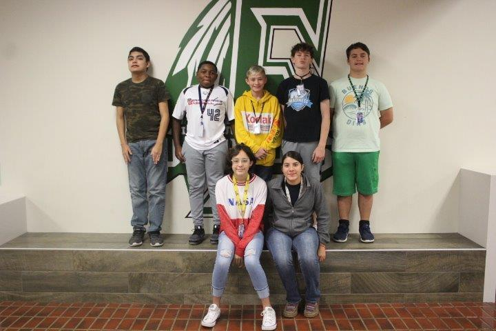 finley 8th grade students of the month