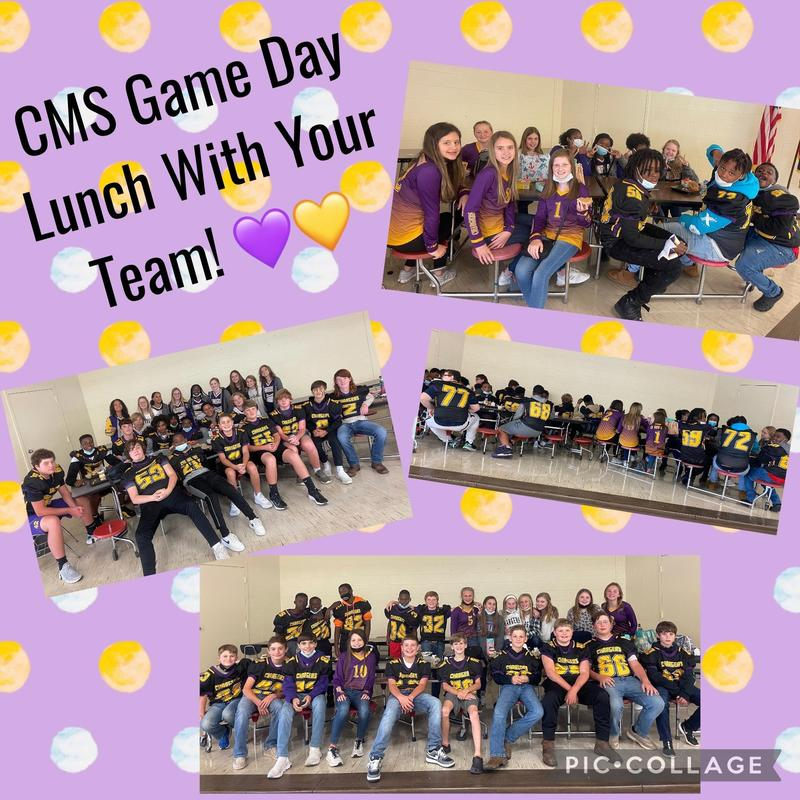 Lunch with football team