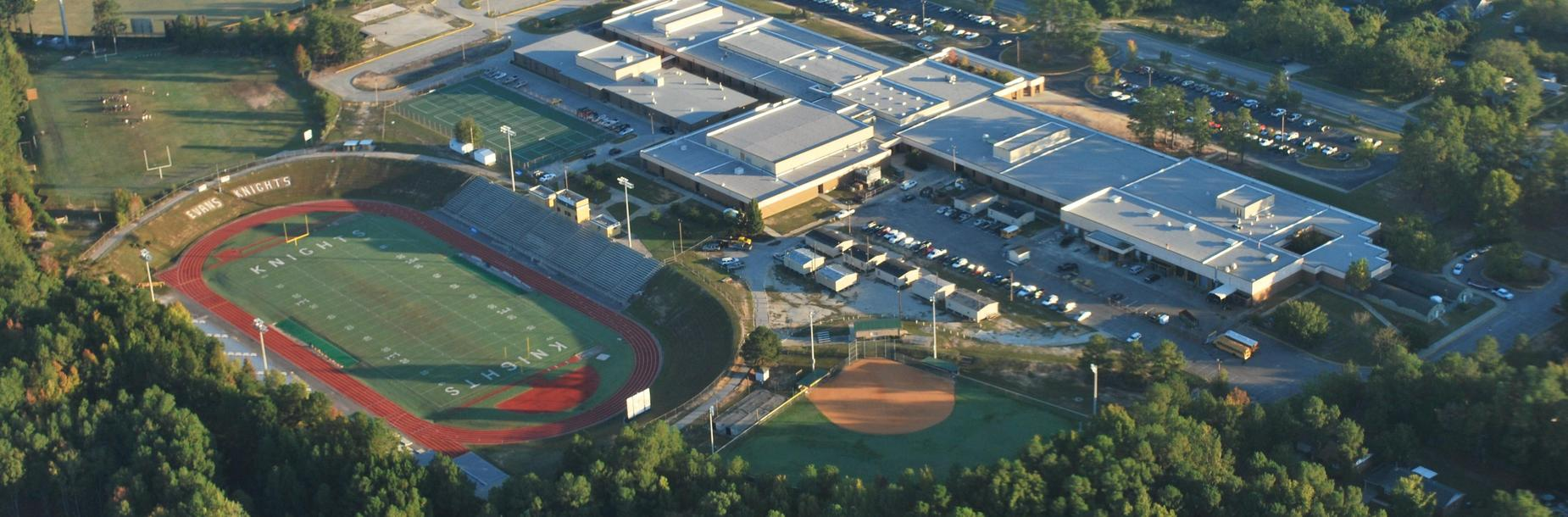 aerial picture of Evans HS