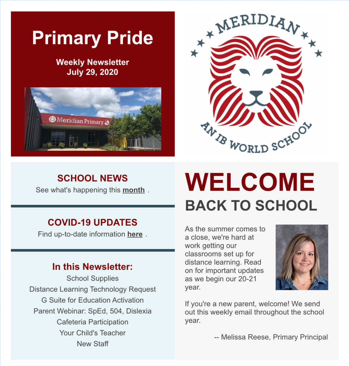 Primary Pride Newsletter