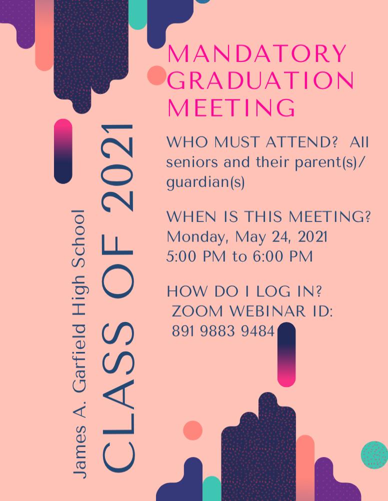 Mandatory Senior Meeting May 24
