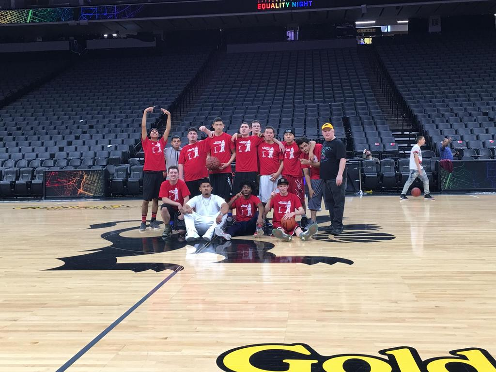 South Valley basketball team picture on King's court