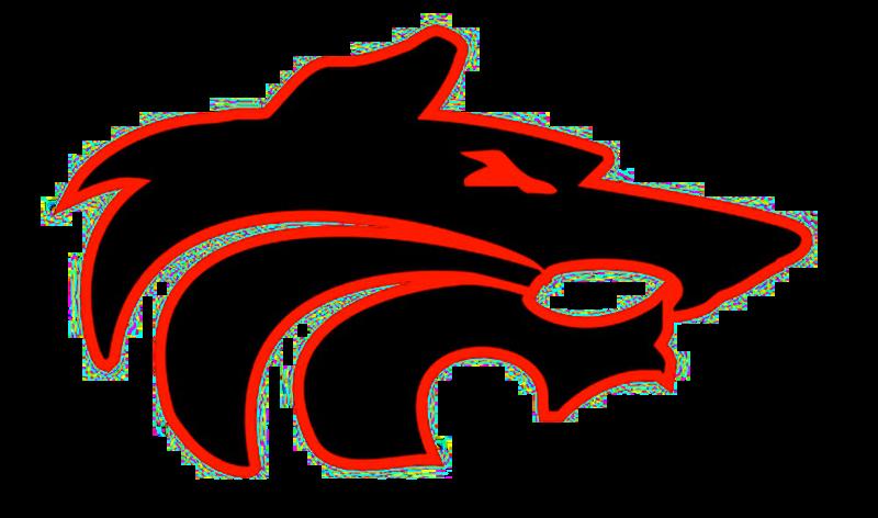 Wolf Head Logo Red Black on White background