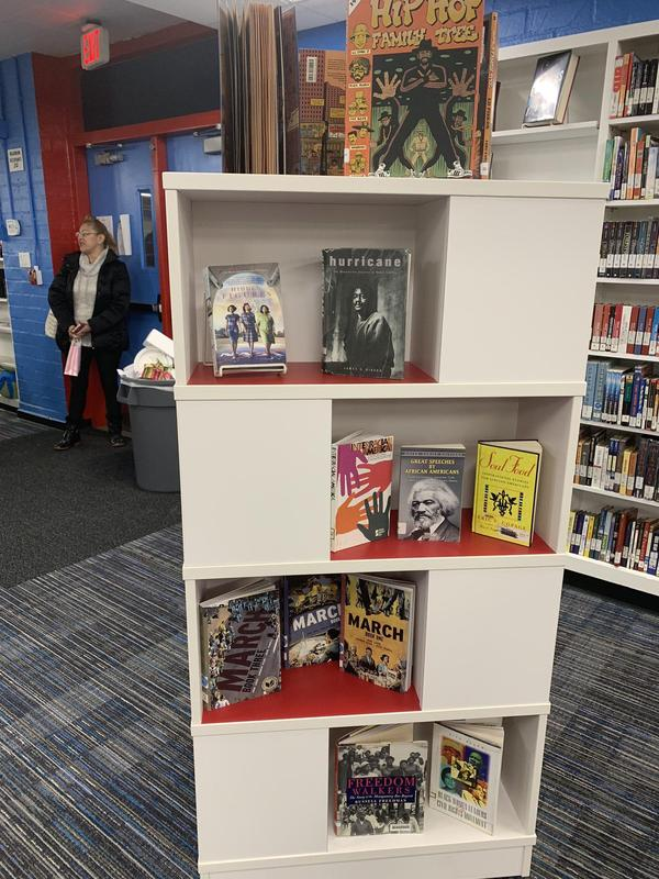 Don't forget to checkout our #BlackHistoryMonth display of available books featuring amazing YA authors, main characters, biographies, and superheroes at your Giant library!#PUSDCelebratesBlackHistory #BlackHistoryMonth #proud2bePUSD