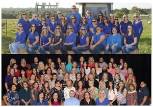 group photos of vickers and mission valley staff members