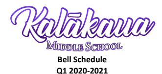 Q1 Weekly Schedule
