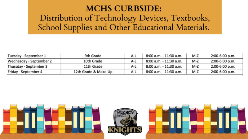 MCHS Curbside Schedule for the Week of September 1st-4th Featured Photo